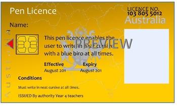 Queensland 'Pen Licence'