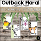 Outback Floral Alphabet Posters