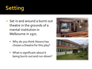 Cosi by Louis Nowra Powerpoint
