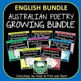 Australian Poetry Close Reading Worksheets GROWING BUNDLE