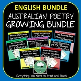 Australian Poetry Close Reading Worksheets GROWING BUNDLE