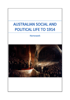 Australian Political History to 1914 Homework
