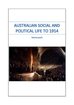 Australian Political History to 1914 Homework