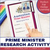 Australian Prime Ministers Digital Mini Research Activity Pack