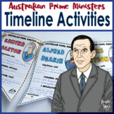 Australian Prime Ministers Timeline Paper Chain and Bunting