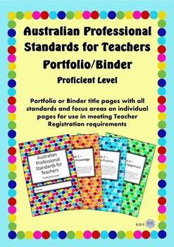 Australian Professional Standards for Teachers Binder/Foli