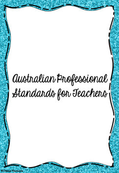 AITSL Standards Cover and Dividers (Glitter)