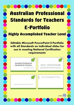 Australian Professional Standards for Teachers E Portfolio - Highly Accomplished
