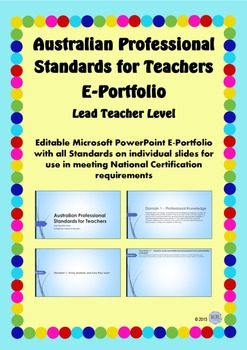 Australian Professional Standards for Teachers E Portfolio