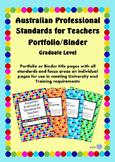 Australian Professional Standards for Teachers Binder/Folio - Graduate Level