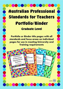 Australian Professional Standards for Teachers Binder/Folio - Graduate Level