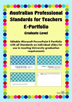 australian professional standards for teachers e portfolio ppt graduate level
