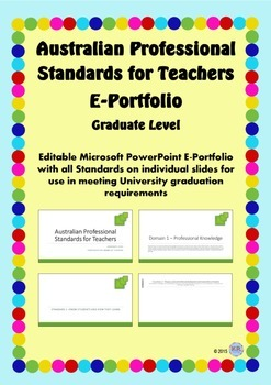 Australian Professional Standards for Teachers E Portfolio PPT - Graduate Level