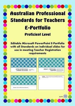 Australian Professional Standards for Teachers E Portfolio PPT- Proficient Level