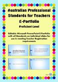 Australian Professional Standards for Teachers E Portfolio PPT- Proficient Level