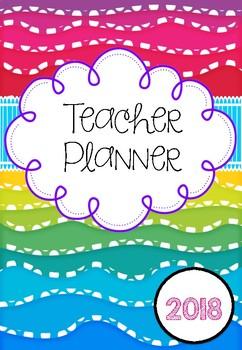 *2017 Update* Australian Rainbow Wave Teacher Planner