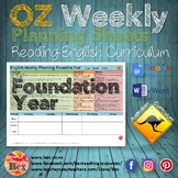 Australian Reading Weekly Planning Sheets - Foundation Year