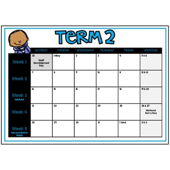 Australian School Term Calendar (2019)