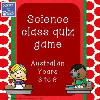 Australian Science Quiz Game Years 3-6