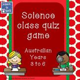 Australian Science Quiz Game Years 3-6