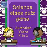 Australian Science Quiz Game Years K-2