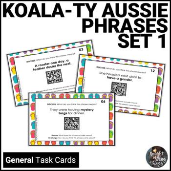 Australian Slang Task Cards - Koala-ty Aussie Phrases - Set 1