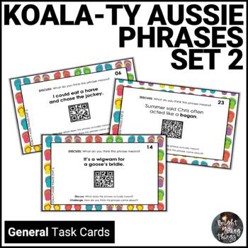 Australian Slang Task Cards - Koala-ty Aussie Phrases - Set 2