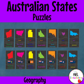 Australian Geography Activity | Australian States Puzzle