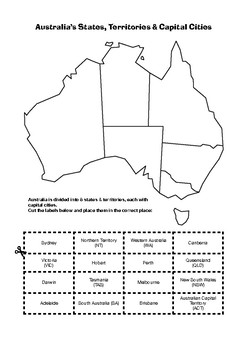 Map Of Australia With States And Territories And Capital Cities.Australian States Territories Capital Cities By Australian