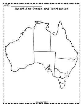 Australian States, Territories and Capital Cities puzzles and activities