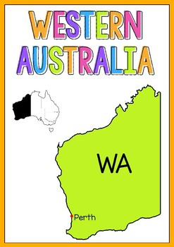 Australian States and Territories Posters