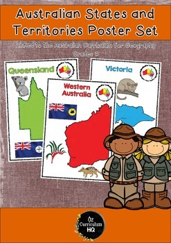 Australian States and Territories Poster Set
