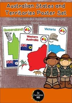 Australian States and Territories Poster Set