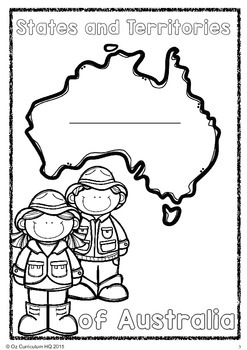 Australian States and Territories Student Worksheets
