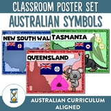 Australian Symbols Emblems and Flags Poster Set
