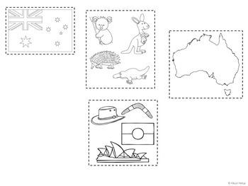Australian Symbols Flipbook