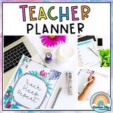 Editable Teacher Planner -  Annual