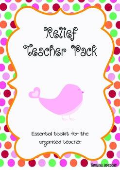 Relief Teacher's Pack