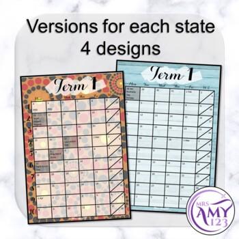Australian Term Calendars