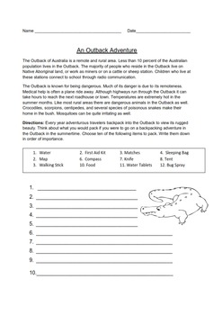 Australia Thematic Unit - Grades 3-4 - US English