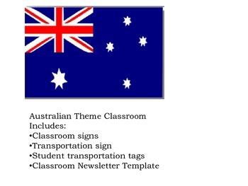 Australian Theme Classroom