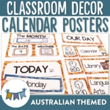 Australian Themed Classroom Calendar and Daily Schedule Posters (Editable)