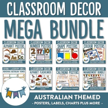 Australian Themed Classroom Decor and Classroom Management Mega Bundle
