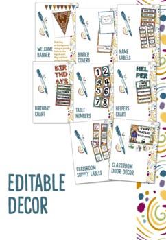 Editable Australian Themed Classroom Management Decor
