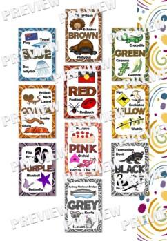 Australian Themed Colour Posters