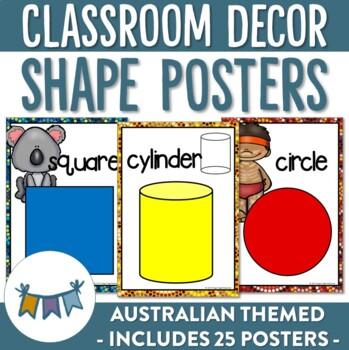 Australian Themed Shape Posters