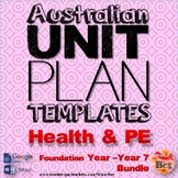 Australian Unit Plan Templates - Health and PE Pack - Foun