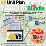 Australian Unit Plan Templates - Mega Bundel - Foundation Year to Year 7