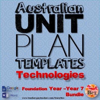 Australian Unit Plan Templates - Technologies Pack - Foundation Year - Year 8