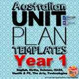 Australian Unit Plan Templates - Year 1